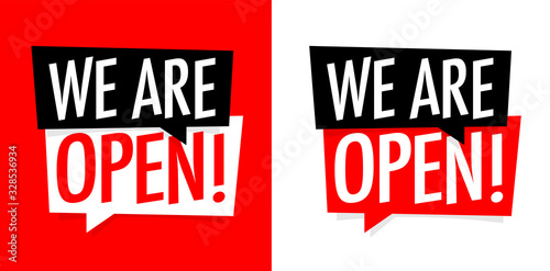 Fototapeta We  are open