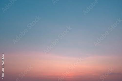 Fototapety, obrazy: gradient sky blue and orange in dusk backgroundbackground