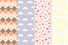 Seamless Pattern Sweet Pastel Color
