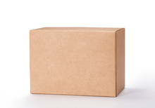 Brown Cardboard Box Isolated O...
