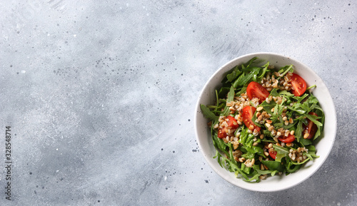 The concept of healthy food Canvas Print