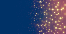 Glowing Sparkles And Stars Holiday Banner Design