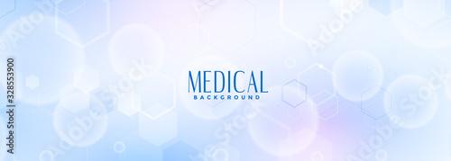 Fotografia medical science and healthcare blue banner design