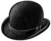 Derby Bowler Hat Illustration,...