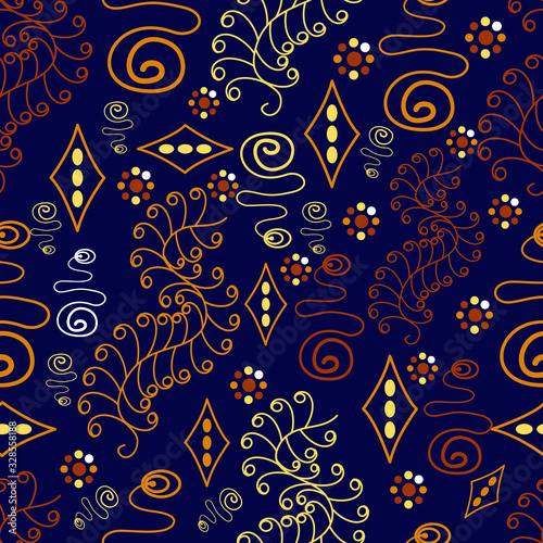 Seamless Batik Pattern.Able to repeat for textile printing. Canvas Print