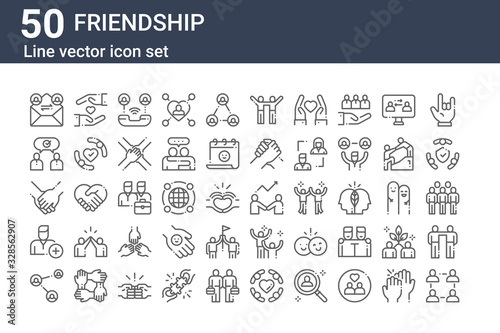 Photo set of 50 friendship icons