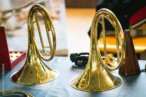 Fotografie, Obraz Early Music Historical Instrument - Baroque Natural Horn