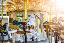 Carousel Horses Sitting Empty ...