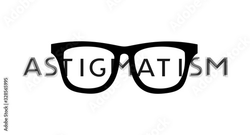 Photo Creative design of astigmatism icon