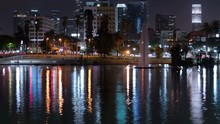 Los Angeles Downtown Reflections On Los Angeles MacArthur Park