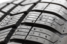 Car Tire Close Up Isolated On ...