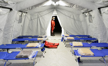 Empty Hospital Field Tent For ...