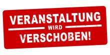 Nlsb1304 NewLongStampBanner Nlsb - German Label / Banner - Deutsch - Stempel - Veranstaltung Wird Verschoben! - Event - 2zu1 Xxl G9170
