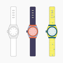 Wrist Watches Icon Collection ...