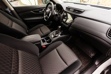 Interior View Of Car With Blac...