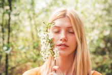 Beauty Spring Girl. Tenderness...