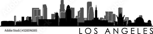 Foto Los Angeles Skyline Silhouette Cityscape Vector