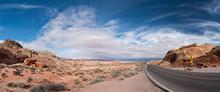 Road In Nevada Desert