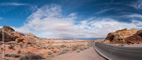 Obraz na plátně Road in Nevada Desert