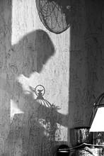 Shadows On The Wall. Silhouett...
