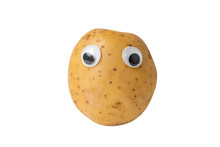 Raw Potato With Googly Eyes On...