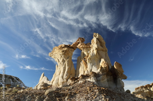 Photo De-na-zin wilderness area, Bisti badlands,  New Mexico  USA