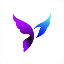 Flying Dove Bird Logo Vector D...