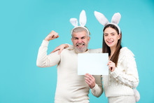 Easter Couple Dressed In Costu...