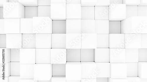 Fototapeta Abstract 3d rendering   CubesSeamless Background. obraz na płótnie