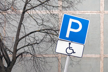 Rickety Disabled Parking Sign ...
