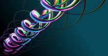 3D Rendering Animated Background Of Circles Looping Seamlessly, 4K