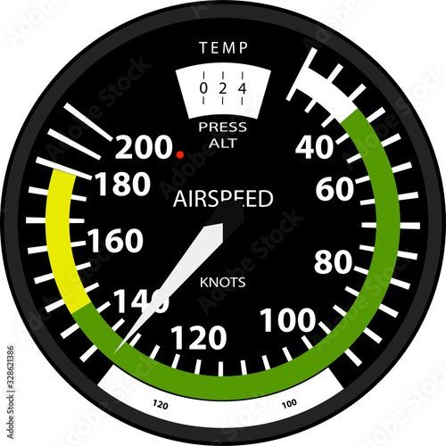 aviation speed indicator isolated on transparent background Canvas Print