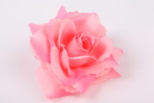 Pink Colorful Textile Rose Clo...