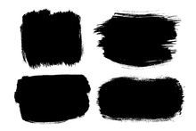 Black Brush Strokes Isolated ...