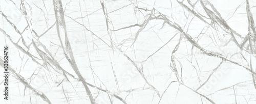 Fototapeta White Cracked Marble rock stone texture background obraz