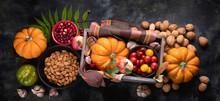 Autumn Food Composition. Top V...