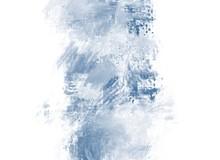 Blue Watercolor, White Backgro...