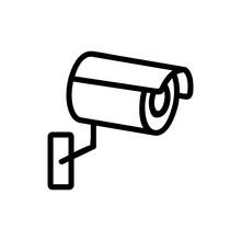Camera Cctv Icon Vector. Thin ...