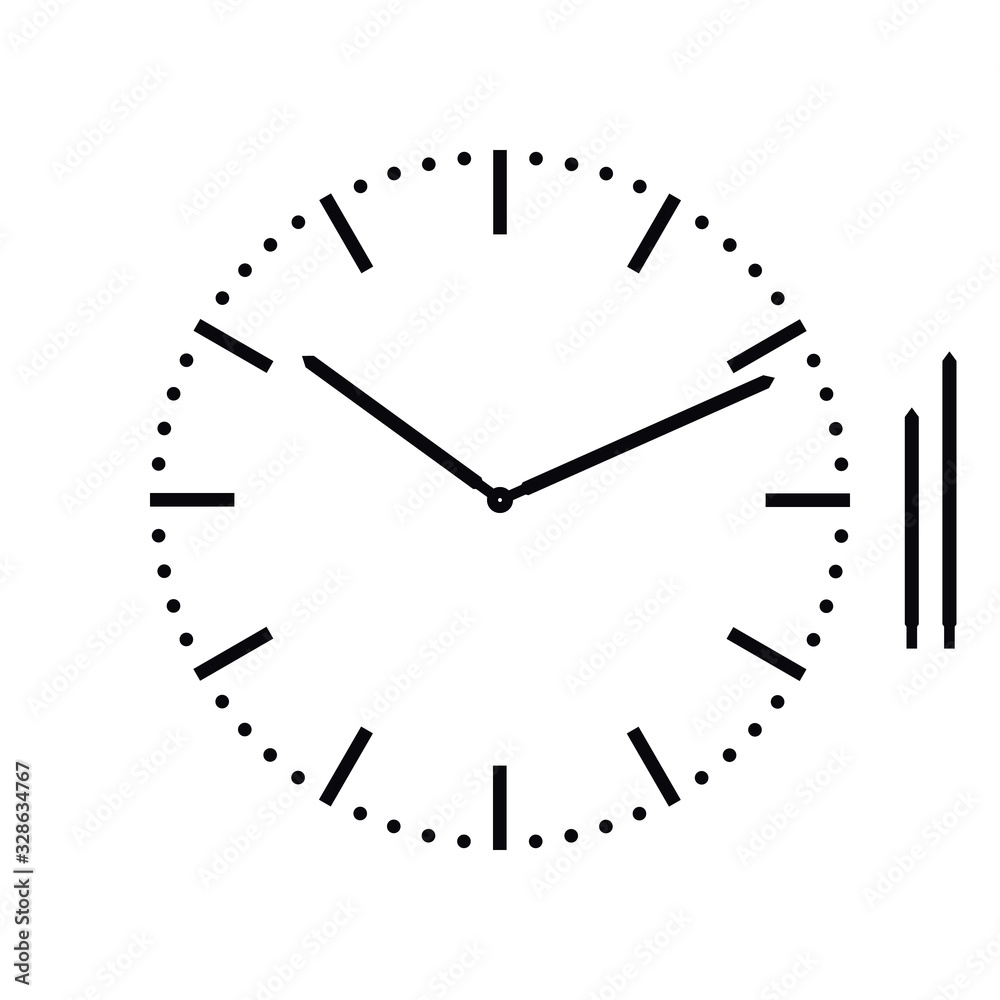Fototapeta classic dial without numbers, vector illustration.