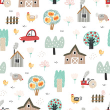 Summer Seamless Pattern With F...