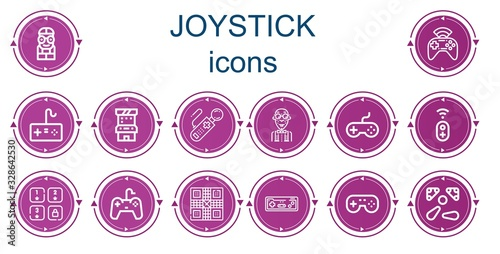 Editable 14 joystick icons for web and mobile