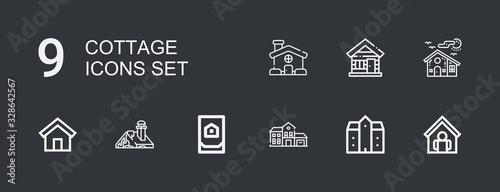 Fotografia, Obraz Editable 9 cottage icons for web and mobile