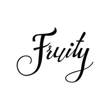 Fruity Text In Brush Style Vec...