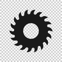 Saw Blade Icon In Flat Style. ...