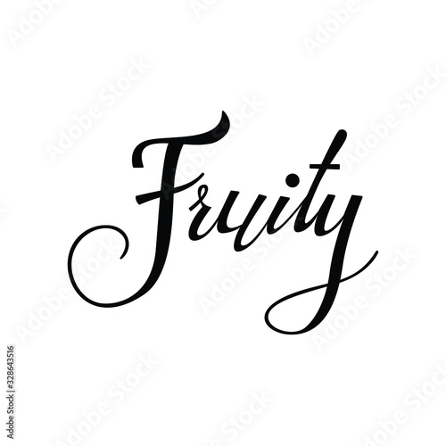 fruity text in brush style vector