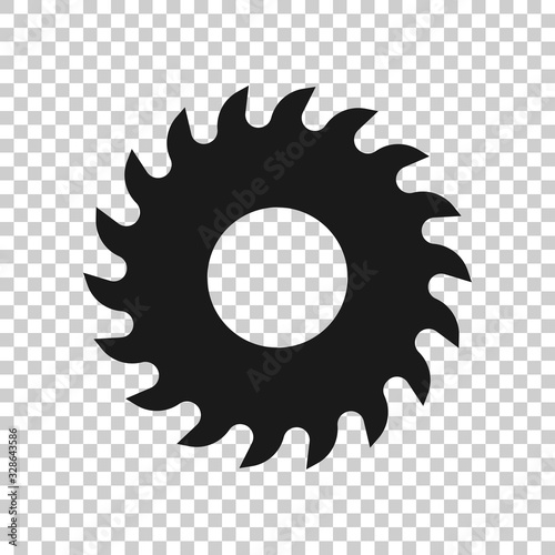 Fotografie, Obraz Saw blade icon in flat style