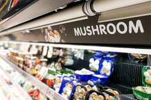 Mushroom Signage At Supermarke...
