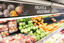 Fruits And Vegetable Signage A...