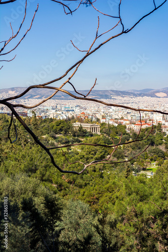 View of Athens from Areopagus hill Wallpaper Mural