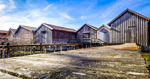 Photo old wooden boathouse